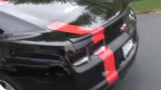 Camaro w/ automatic license bracket