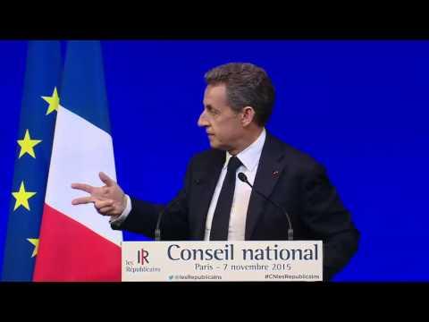 Discours de Nicolas Sarkozy au Conseil National du 7 novembre 2015