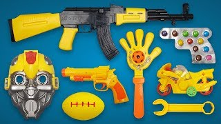 Candy Gun! Realistic AK47 Toy Gun with Avenger Toy Musk 5 Finger Candy Bike Exercise Rugby Ball Toys