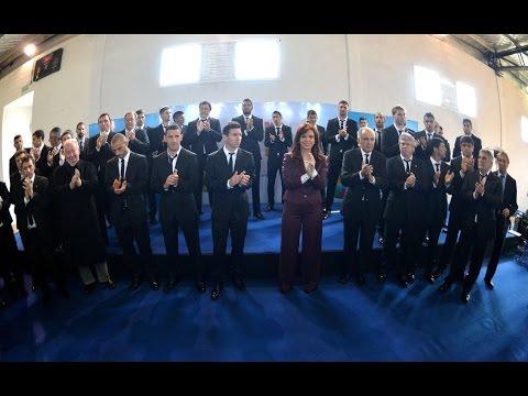 14 de JUL. Cristina Fernández recibió a la selección Argentina de Fútbol luego del mundial 2014
