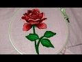 Hand Embroidery A Beautiful Rose With Shading Work mp3