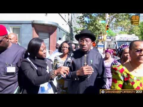 SaharaTV Interview with Goodluck Jonathan On The Streets Of New York