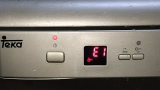 how to fix e4 error on dishwasher