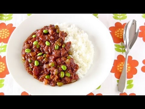 Quick Edamame Keema Curry (Easy Recipe)