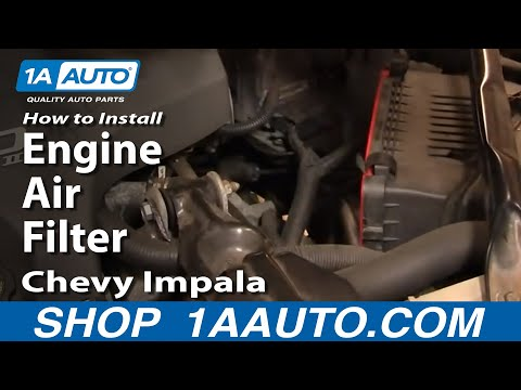 How To Install Replace Engine Air Filter Chevy Impala 00-05 1AAuto.com
