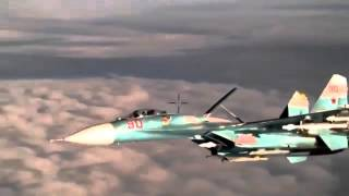 Russian Su-27 Flanker met the patrol of the Lockheed P-3 Orion in the sky