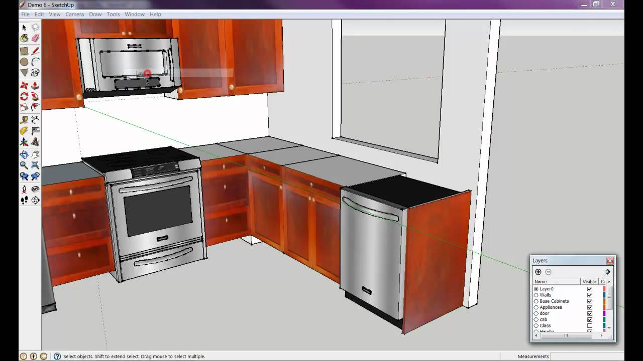 How To Draw A Kitchen With Free Software 6 Of 8 Youtube