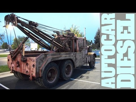 Mad Max old rusty Autocar Diesel Tow Trucks, still functional