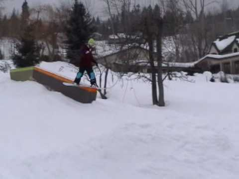 Backyard Snowboard Park Jib Farm #2