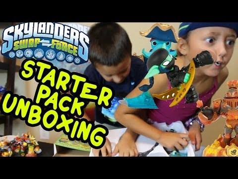 Skylanders Swap Force WiiU Starter Pack Unboxing  w/ Exclusive Ninja Stealth Elf (Part 7)