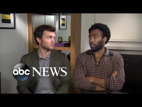 Donald Glover and Alden Ehrenreich dish on 'Solo: A Star Wars Story'