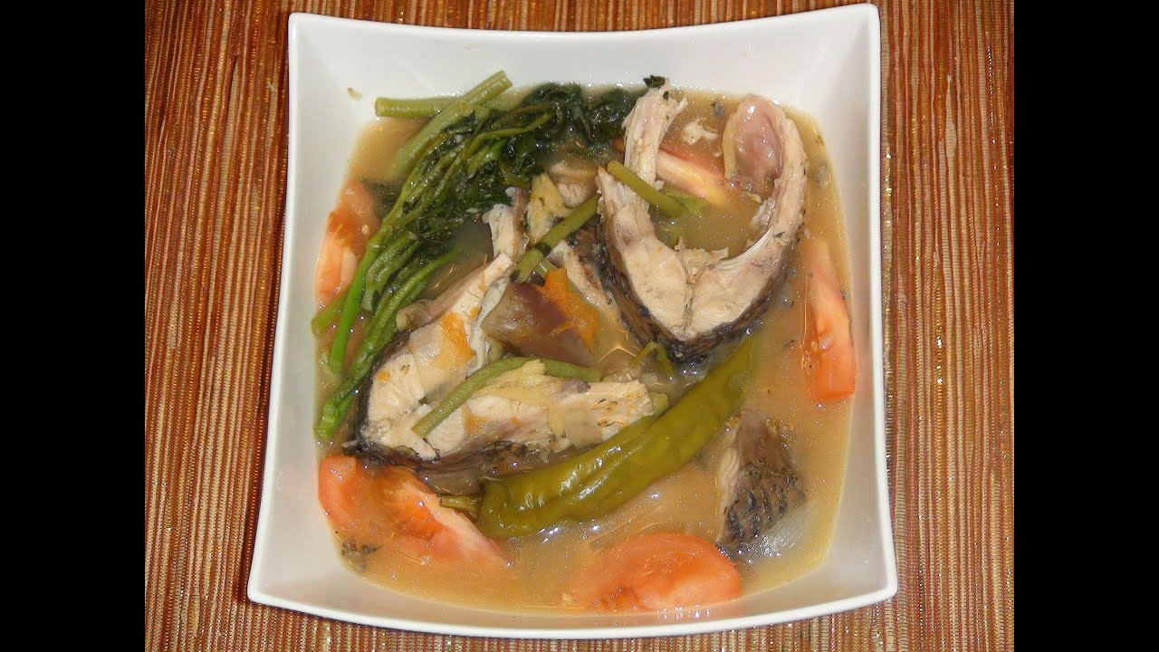 Pinoy recipe sinigang na isda sa sampalok at miso carp for Filipino fish recipes