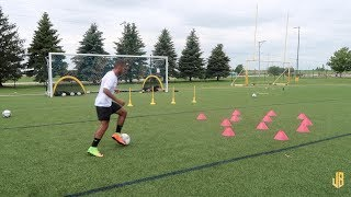 High Intensity Soccer Drills - Training Session With a Subscriber!