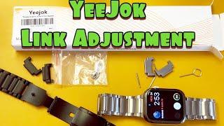 Yeejok Compatible Apple Watch Band: How to Adjust Links to Shorten