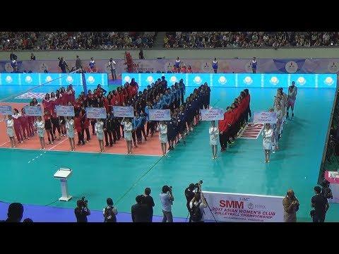 Чемпионат Азии по волейболу среди женских клубных команд. Церемония открытия. KAZ - TPE