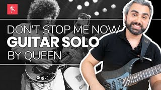 🎸Don't Stop Me Now Solo Guitar Lesson - How To Play Don't Stop Me Now Guitar Solo by Queen