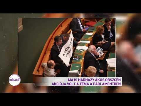 Ma is Hadházy Ákos obszcén akciója volt a téma a parlamentben