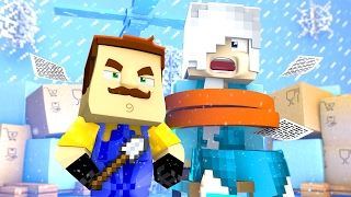 Minecraft Baby Hello Neighbour - FROZEN ELSA GETS KIDNAPPED!?