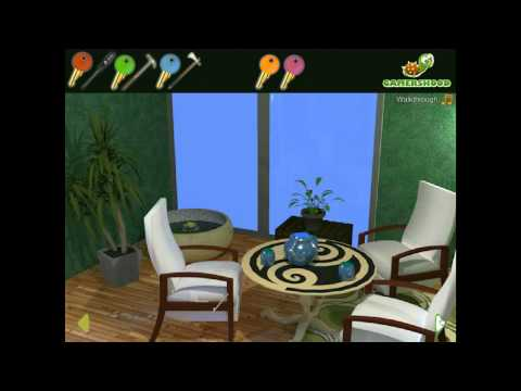 Green Sitting Room Escape  Walkthrough