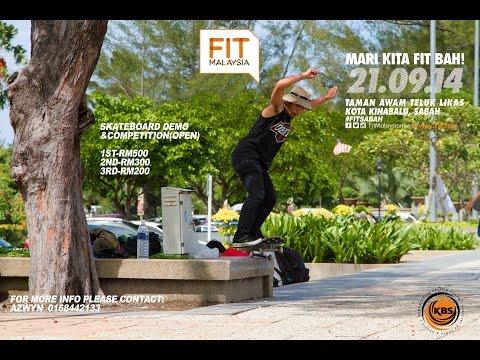 Fit Malaysia Skateboarding Event Sabah (Highlight) 2014
