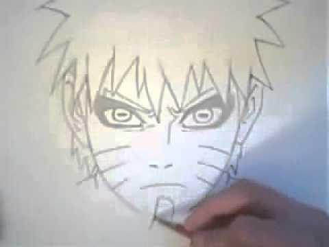 Видео как нарисовать Наруто