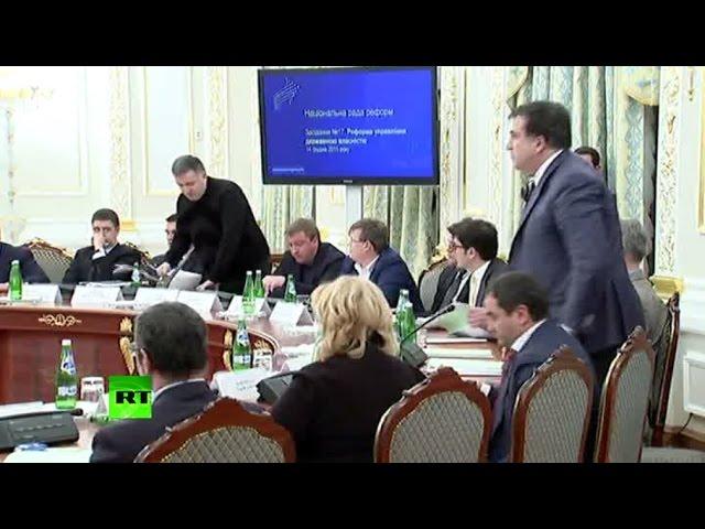 Арсен Аваков опубликовал видео перепалки с Михаилом Саакашвили