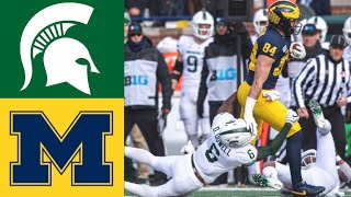 Michigan State vs #15 Michigan Highlights | NCAAF Week 12 | College Football Highlights