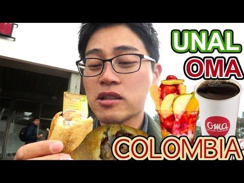 Coreano Probando Comida Callejera Colombiana l Conociendo la Mejor Univ. de COLOMBIA
