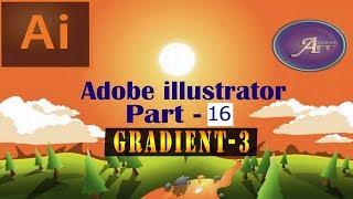 Adobe illustrator Bangla Tutorial Part 16 ।। Gradient Color-3