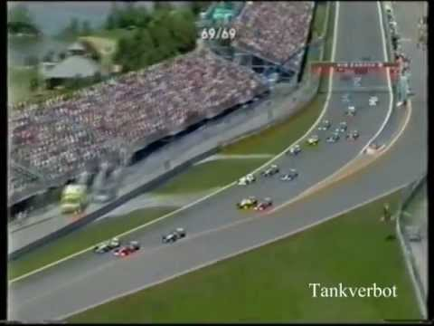 F1 Canadian GP 2001 Michael Schumacher vs Ralf Schumacher
