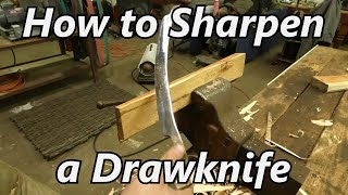 How to Sharpen a Drawknife - The Easy Way | Iron Wolf Industrial