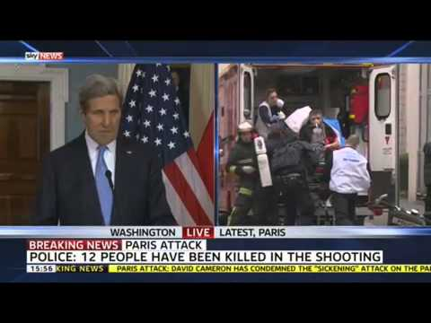 "John Kerry: ""America Stands With France"""