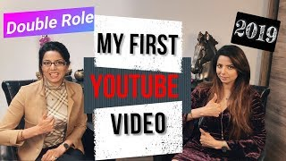 My first Youtube video 2019 | Double role video editing