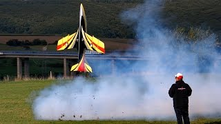 AVANTI S GIGANTIC RC TURBINE MODEL JET FLIGHT SHOW FROM SEBASTIANO SILVESTRI / Jetpower Messe 2015
