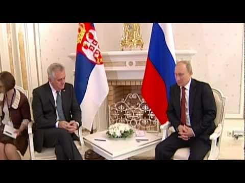 RUSSIAN, SERBIAN Presidents Meet at the Summer Residence in Sochi