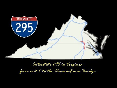 Interstate 295 in Virginia - from exit 1 to the Varina-Enon Bridge across the James River