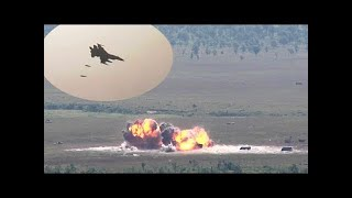 AWESOME footage (and SOUND!) as F-16s DROP LIVE 500lb BOMBS as part of a training exercise!