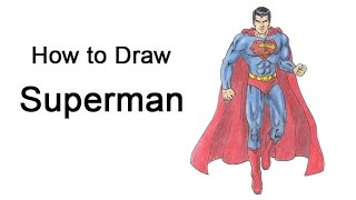 How to draw cartoon superman