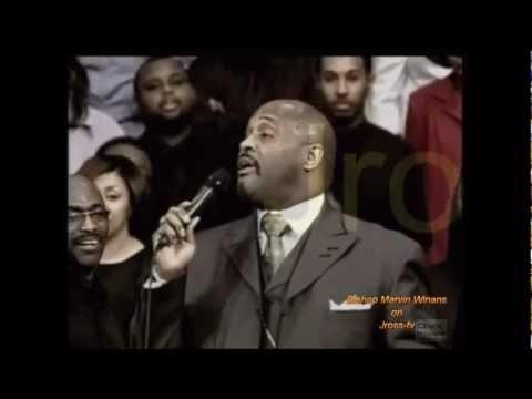 Bishop Marvin Winans sings