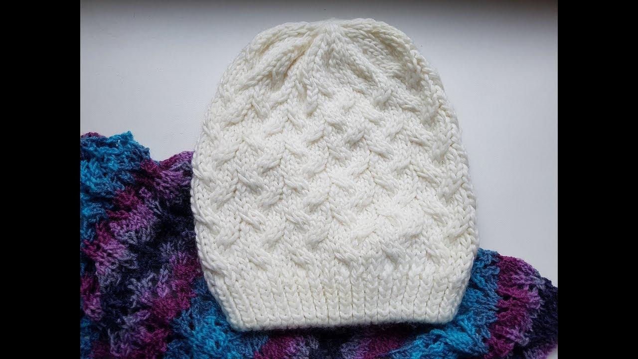 178Видео вязание спицами шапочки