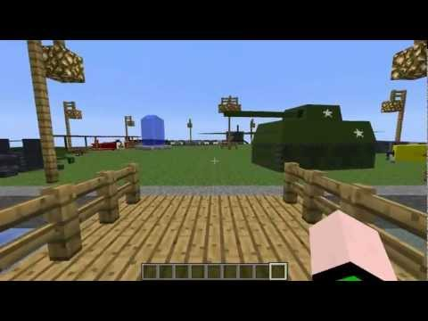 Minecraft Mods - Aviões, Tanques, ARMAS ! - Flan's Mod