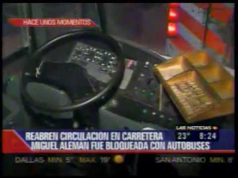 Bloquean delincuentes carreteras a Reynosa y Miguel Alemán