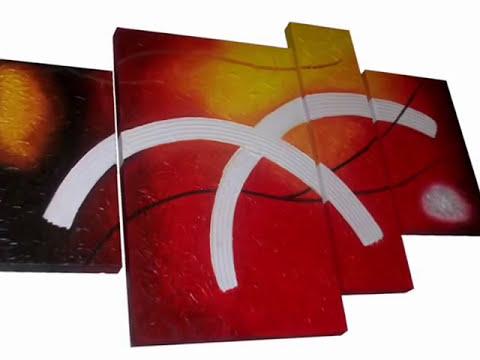 Cuadros Abstractos Tripticos ( Modernos ).Fotos.