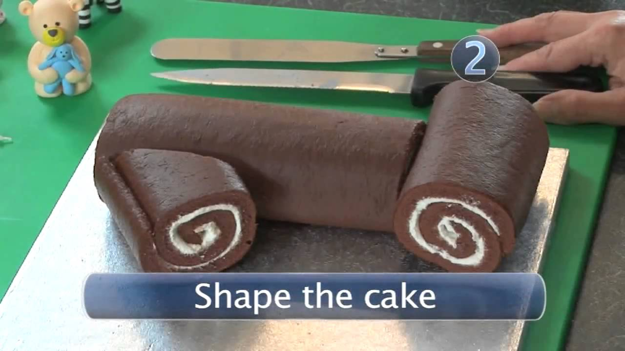 Cake Design How To Make : How To Make A First Birthday Cake - YouTube