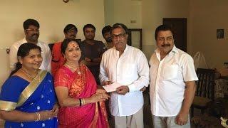 Saroja Devi Donates 5 Lakhs for CM's Flood Relief Fund