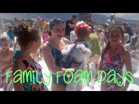 Family Foam Days | Fun Summer Activities