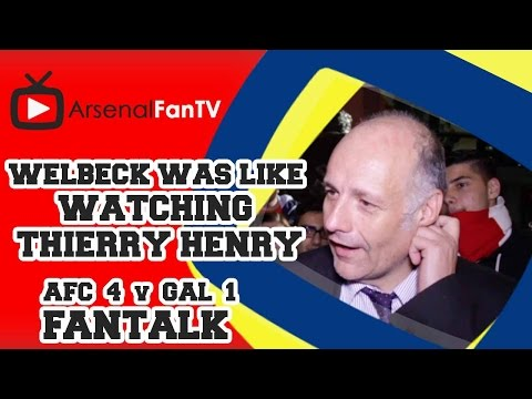 Welbeck Was Like Watching Thierry Henry - Arsenal 4 Galatasaray 1