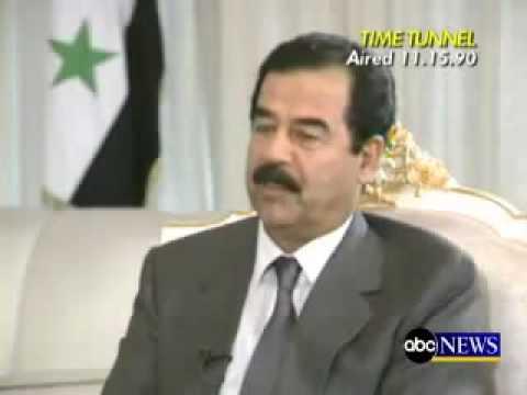 حديث صدام حسين مع قناة abc الاخبارية Music Videos