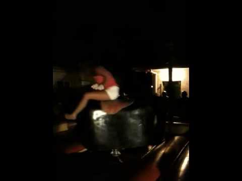 hot girl rides bull Video