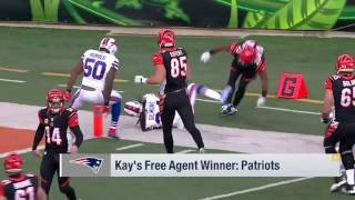 Kay's free agent winners Patriots | Good Morning Football | Mar 13, 2017